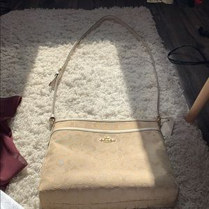Tan coach cross body